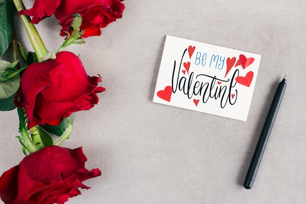 Вид сверху валентина макет карты