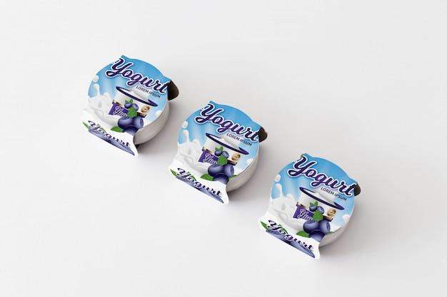 Макет упаковки йогурта