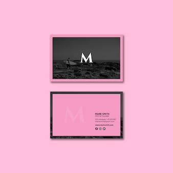 Элегантный макет визитки