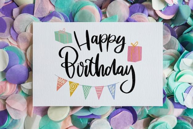 Макет открытки на день рождения
