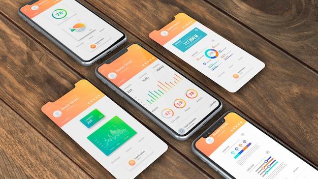 アプリのスマートフォンモックアップ