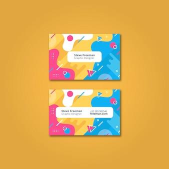 Красочная визитная карточка макет