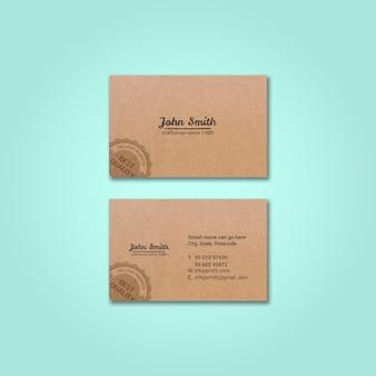 Винтажный макет визитки