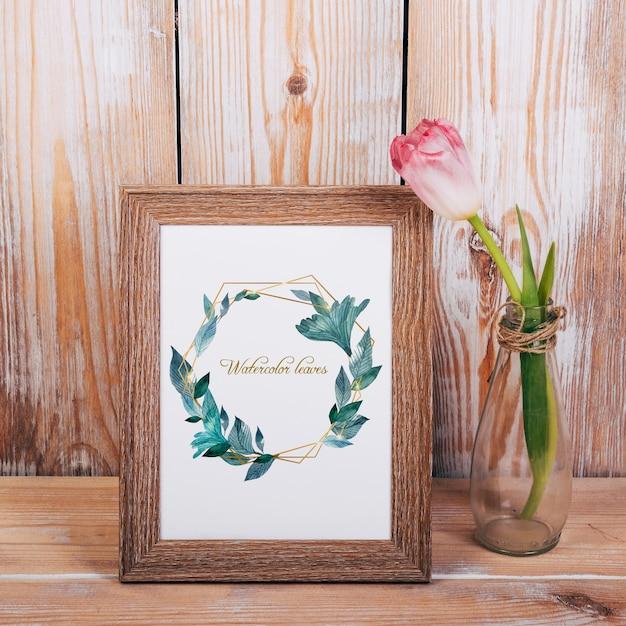 Весенний макет с деревянной рамой