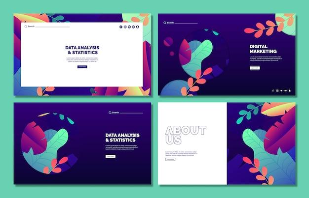 Бизнес макет шаблона веб-набора