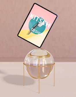 Макет планшета с концепцией китча