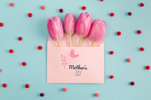 花の母の日のモックアップ
