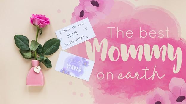 Плоский макет для матери
