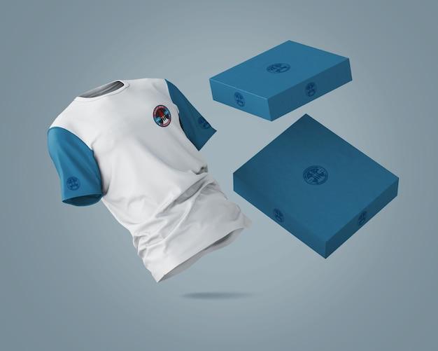 ブランドロゴ付きスポーツシャツモックアップ