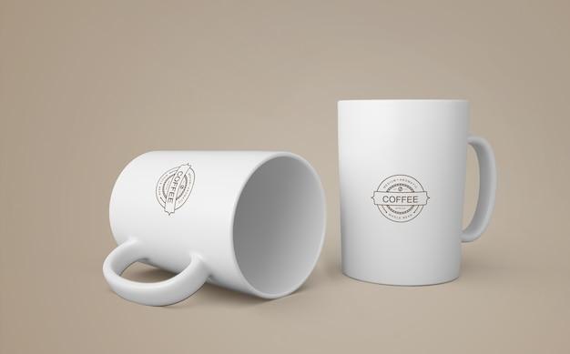 商品のコーヒーマグモックアップ