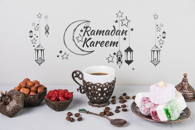 ラマダンの要素のある美しい静物