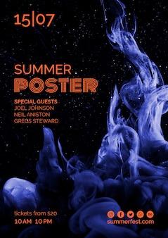 夏祭りのポスターテンプレート