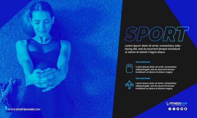 Шаблон веб-баннера со спортивной концепцией