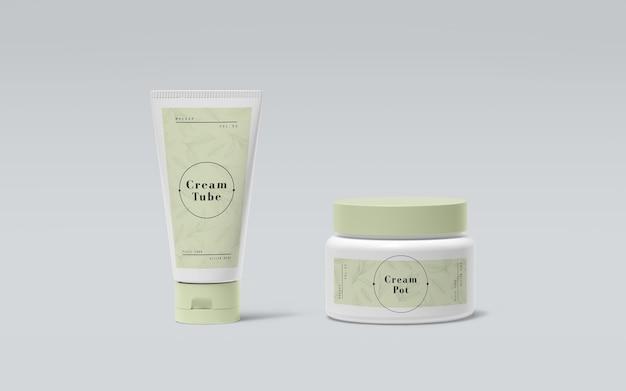 Зеленая упаковка косметических продуктов