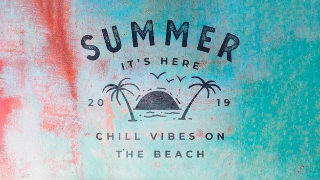 Ржавая летняя надпись фон с пальмами