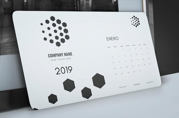Макет рисованной календарь