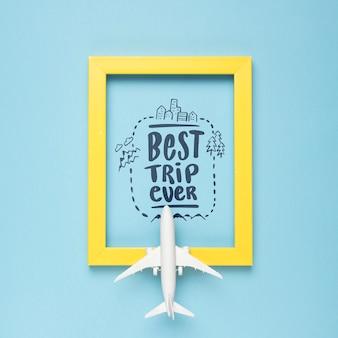 これまでで最高の旅行、休暇旅行の概念のためのやる気を起こさせるレタリング引用