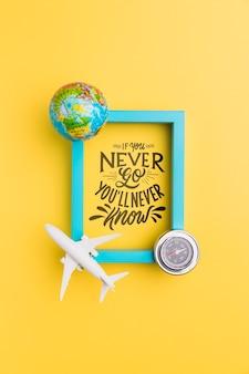 Мотивационная надпись цитата для праздников путешествия концепции