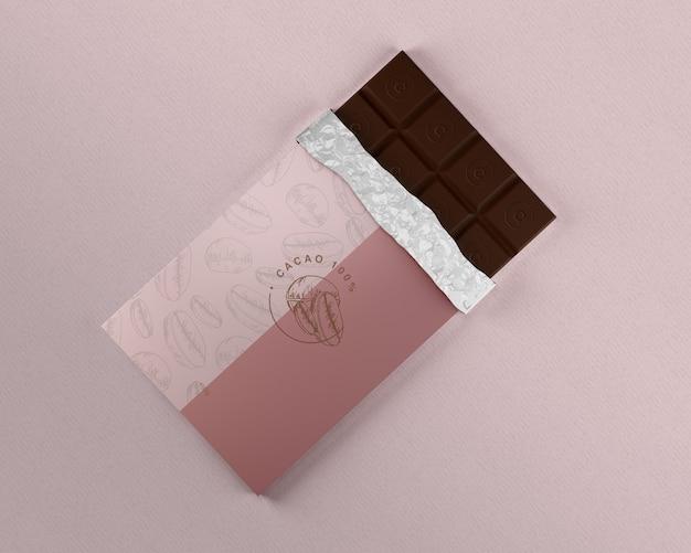 チョコレートホイルラッピングモックアップ