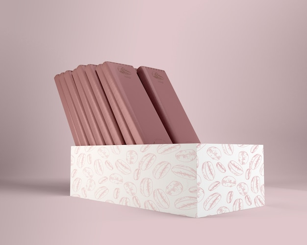 チョコレートの紙の包装と箱のデザイン