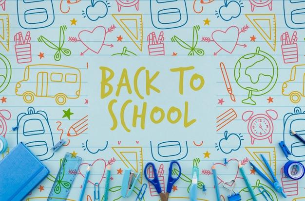 フラットは青い物資と一緒に学校に戻る