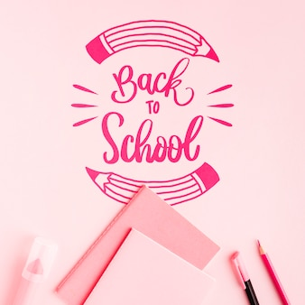 Квартира лежала обратно в школу с розовым фоном