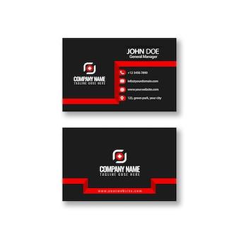 Абстрактный минималистичный шаблон визитной карточки