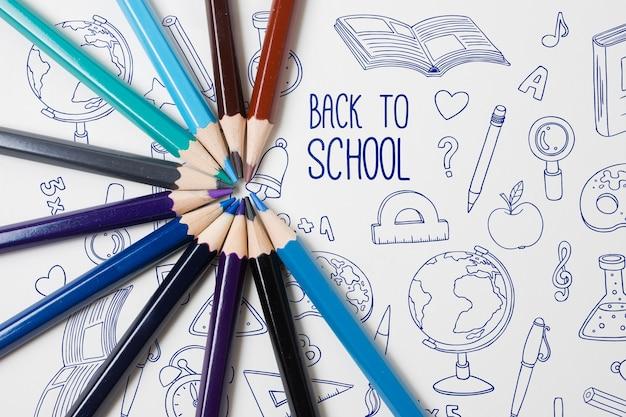 Плоская планировка с карандашами