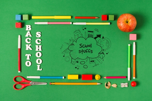 Прямоугольная рамка сверху для школьного мероприятия