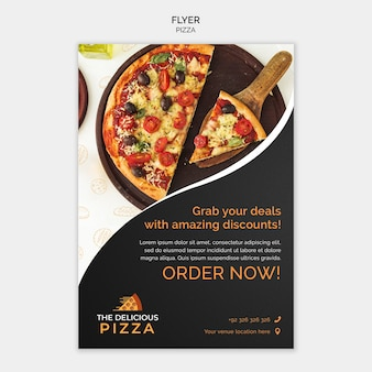 ピザ注文のチラシ