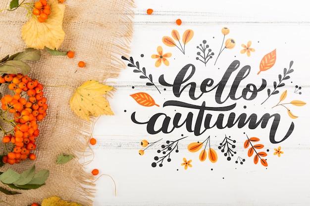 新しい秋の季節の歓迎メッセージ