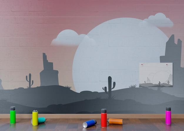 Эскиз после концепции ландшафта