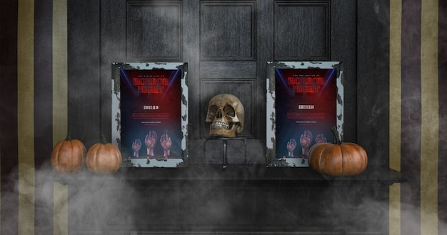 Разнообразие макетов хэллоуин кадр вид спереди