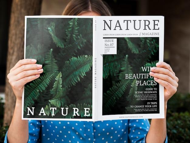 自然に関する新しい情報を掲載した雑誌