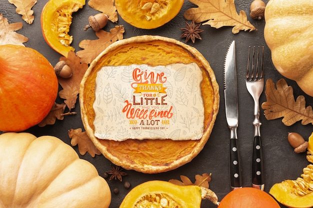 感謝祭のお祝い食品コンセプト