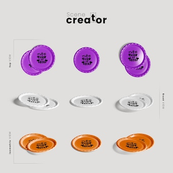 Плиты различных ракурсов создателя сцены хэллоуина