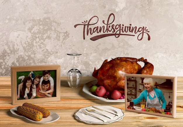 Вид спереди макета концепции благодарения