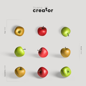 Акция благодарения с красочными яблоками