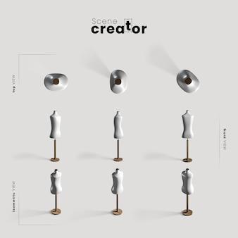 Манекен различных углов для иллюстраций создателя сцены