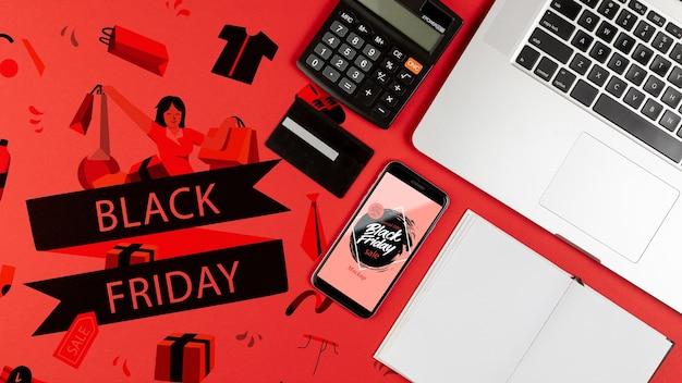 Концепция макета «черная пятница»