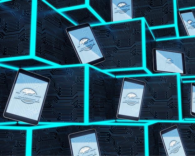 ハイテクタブレットの未来的なコンセプト