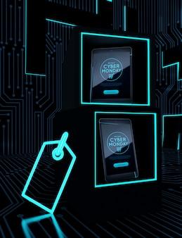 メガ割引サイバー月曜日の電子デバイス