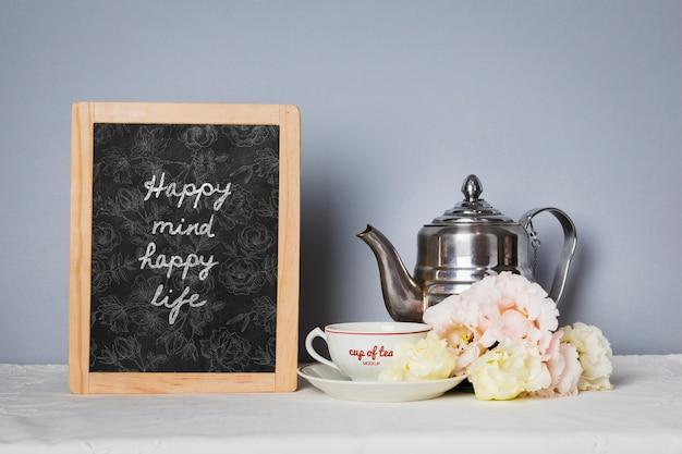 Доска с мотивационной цитатой макет