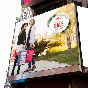 Зимняя распродажа макет рекламного щита
