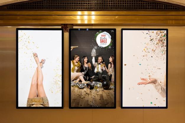 Ассортимент макетов рекламных щитов