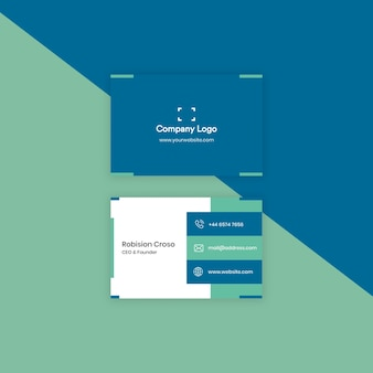 Бизнес логотип компании и дизайн информационной страницы