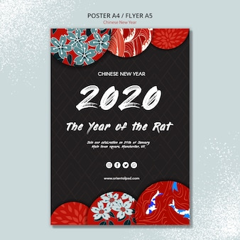 Шаблон постера для китайского нового года
