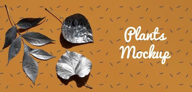Коллекция натуральной ветки с листьями