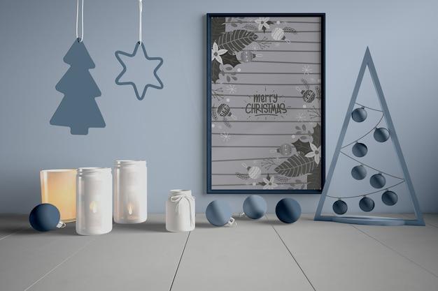 クリスマスの装飾と絵画
