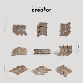 Теплые носки разнообразные углы создатель рождественской сцены